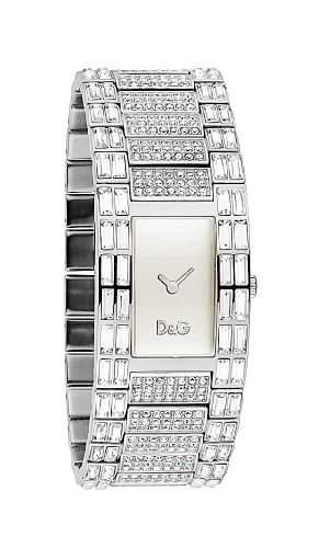 D&G Dolce&Gabbana Damen-Armbanduhr INTERLACE SLV DIAL BRC WITH STONES DW0331
