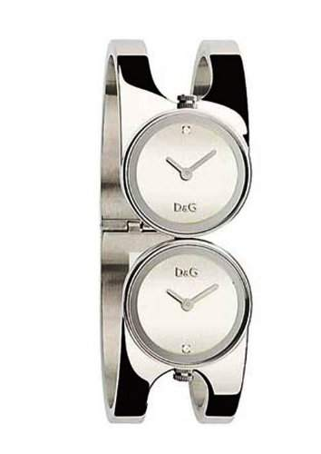D&G Dolce&Gabbana Damen-Armbanduhr MIX SS SLV DIALS WITH STONES BANGLE DW0356