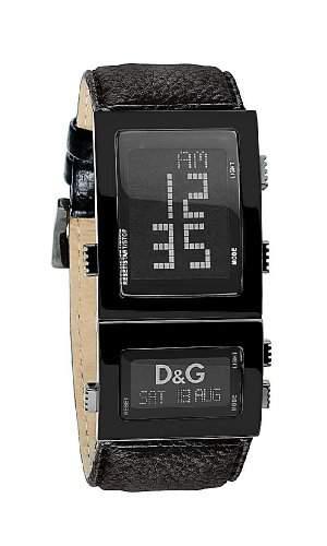 D&G Dolce&Gabbana Herren-Armbanduhr Lederband