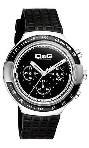 D&G Dolce&Gabbana WATCH JUAN CHR SS IP BLK BEZEL BLK DIAL BLK PU STRAP DW0415