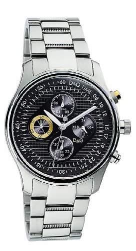 D&G Dolce&Gabbana Herren-Armbanduhr MENTONE CHR SS ANTHRACITE DIAL BRC DW0430