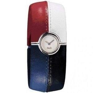 D&G Dolce&Gabbana Damen-Armbanduhr ANTIBES SLV DIAL REDWTEBLUEBLK BANGLE DW0436