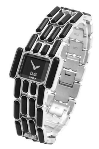D&G Dolce&Gabbana-Damen-Armbanduhr ARISTOCRATIC 2H BRC BLACK DIAL SS CASE WIT DW0472