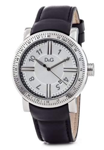 D&G Dolce&Gabbana Herren-Armbanduhr GENTEEL 3H MAN SS CASE SILVER DIAL SMOOTH BLACK DW0483