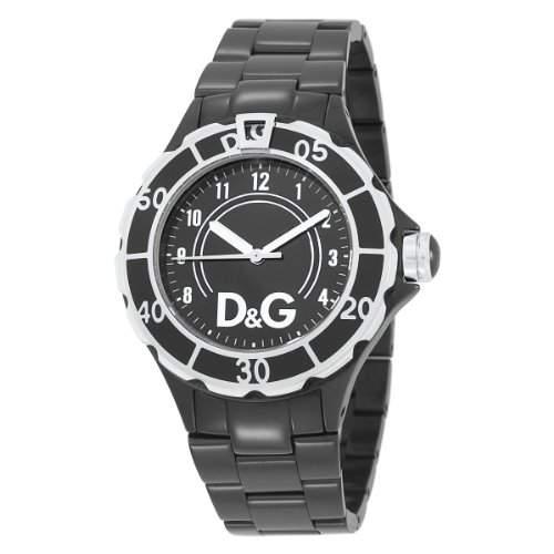 D&G Dolce & Gabbana New Anchor Black Dial Damenuhr # DW0662