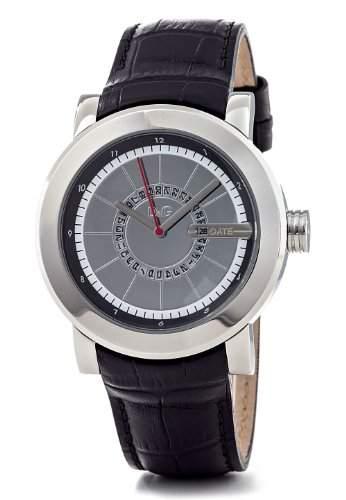 Dolce&Gabbana Herren-Armbanduhr Analog Leder schwarz DW0721