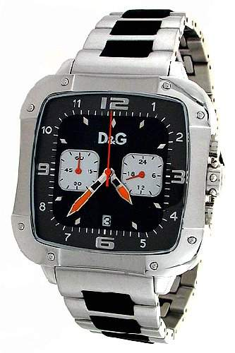 D&G Dolce&Gabbana WATCH LICENSED BLKANTHR DIAL BRC WITH PU INSERTS DW0247 Herren