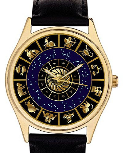 Atemberaubende Astrologie Art Sternzeichen Kreis Star Sun Schilder Vintage Midnight Blau Art 40 mm