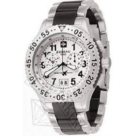 ZODIAC MENS SWISS DRAGON WING CHRONOGRAPH STAINLESS STEEL & RUBBER UHR ZO7403