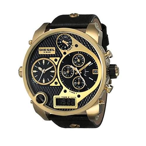 Diesel Herren-Armbanduhr Chronograph Quarz Leder DZ7323