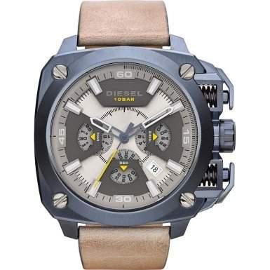 Diesel Herren-Armbanduhr BAMF Chronograph Quarz Leder DZ7342