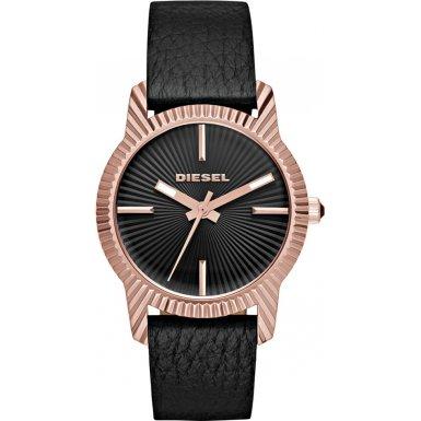 Diesel Damen Armbanduhr Analog Quarz One Size schwarz schwarz