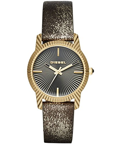 Diesel Damen Armbanduhr Analog Quarz One Size grau grau