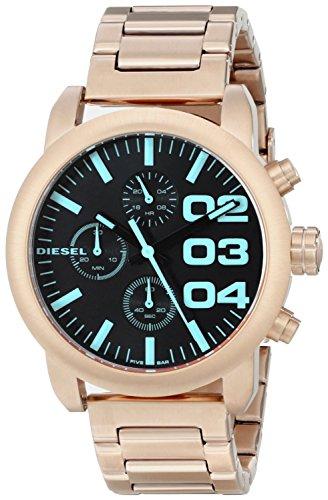 Diesel Damen Armbanduhr Flare Chrono Analog Quarz Edelstahl DZ5454