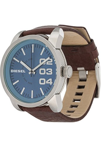 Diesel Rund Analog Quarz One Size blau braun silber blau