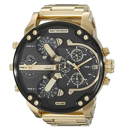 Diesel Herren Armbanduhr Mr Daddy 2 0 Chronograph Quarz Edelstahl beschichtet DZ7333