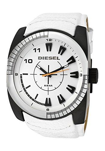 Diesel Quarz Analog Edelstahl Beschichtet Weiss DZ1369
