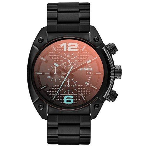 Diesel DZ4316 OVERFLOW Chronograph Uhr Edelstahl 100m Analog Chrono Datum schwarz