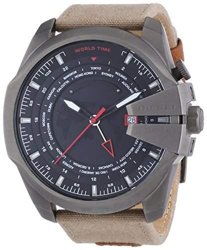 Diesel Herren-Armbanduhr XL Chronograph Quarz Leder DZ4306