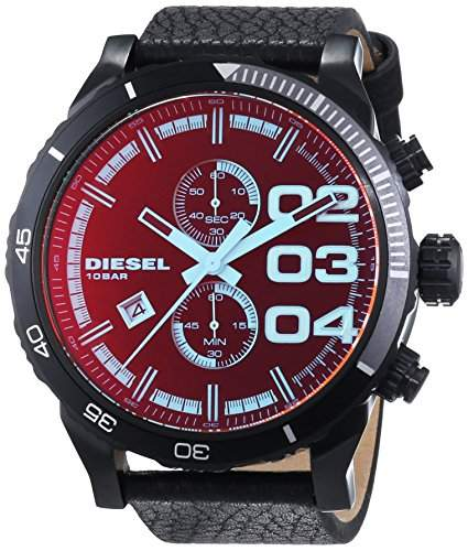 Diesel Herren-Armbanduhr XL Chronograph Quarz Leder DZ4311