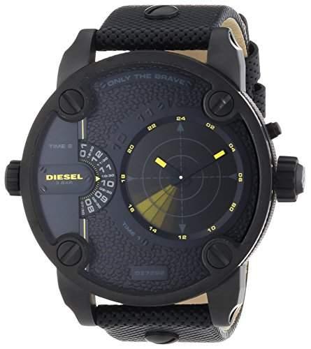 Diesel Herren-Armbanduhr XL Chronograph Quarz Leder DZ7292