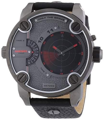 Diesel Herren-Armbanduhr XL Chronograph Quarz Leder DZ7293