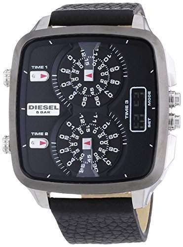 Diesel Herren-Armbanduhr XL Analog - Digital Quarz Leder DZ7302