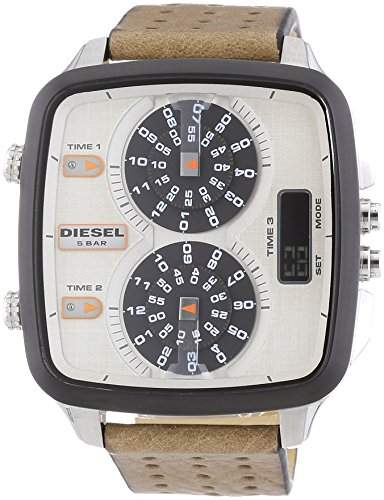 Diesel Herren-Armbanduhr Chronograph Quarz Leder DZ7303