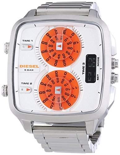 Diesel Herren-Armbanduhr XL Analog - Digital Quarz Edelstahl DZ7304