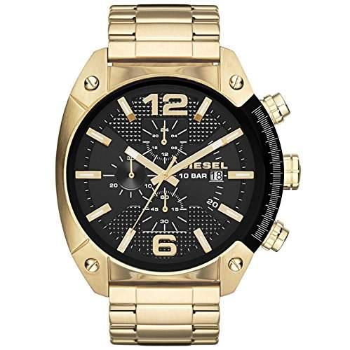 Diesel Herren-Armbanduhr Overflow Chronograph Quarz Edelstahl beschichtet DZ4342