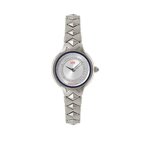 Matthew Williamson WomenHerren-Armbanduhr 17251562 Analog-Anzeige und Silber-Edelstahl-Armband vergoldet lbm340 DE 0106