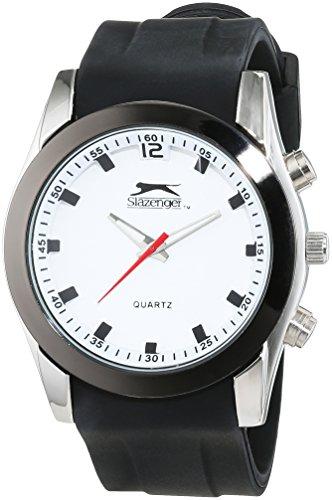SLAZENGER Herren Armbanduhr Analog Quarz Silikon SLZ305 C