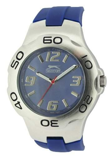 SLAZENGER Herren-Armbanduhr Analog Silikon Blau SLZ122C