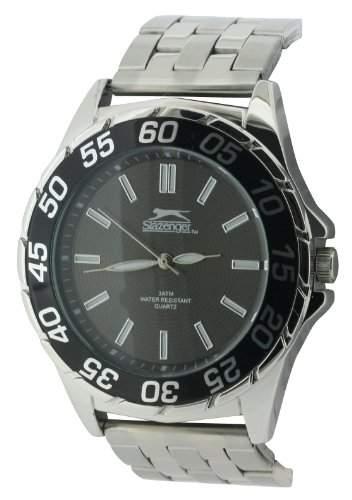 SLAZENGER Herren-Armbanduhr Analog Sonstige Materialien Silber SLZ158A