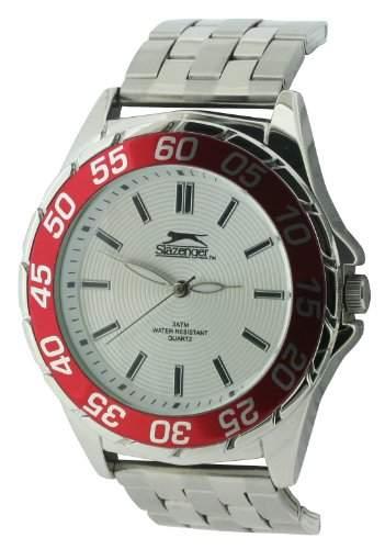 SLAZENGER Herren-Armbanduhr Analog Sonstige Materialien Silber SLZ158C