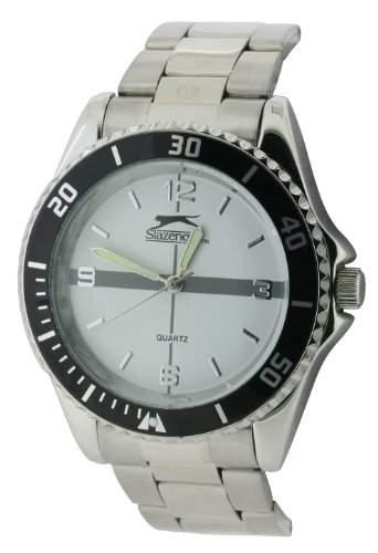 Slazenger Herren-Armbanduhr Analog Formgehaeuse weiss SLZ159A
