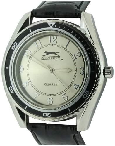 SLAZENGER Herren-Armbanduhr Analog Kunststoff Schwarz SLZ183C