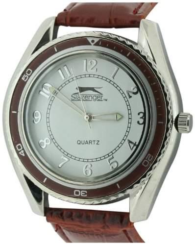SLAZENGER Herren-Armbanduhr Analog Plastik Braun SLZ183D