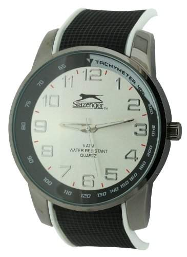 SLAZENGER Herren-Armbanduhr Analog Kunststoff Schwarz SLZ190B