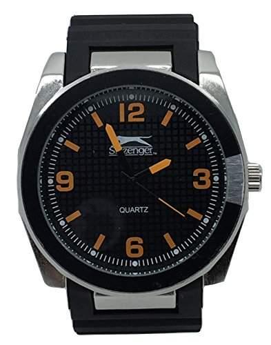 SLAZENGER Herren-Armbanduhr Analog Silikon Schwarz SLZ218E