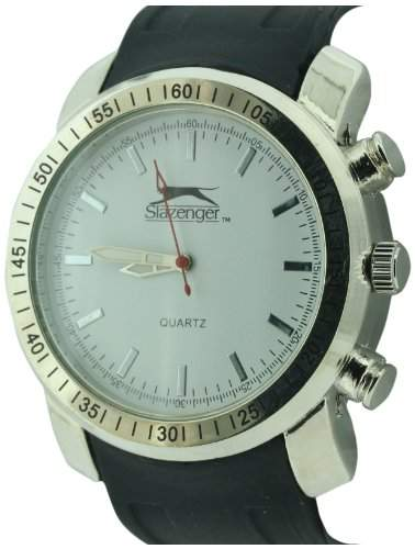 SLAZENGER Herren-Armbanduhr Analog Silikon Schwarz SLZ304A