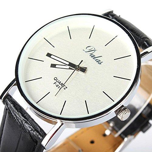 SSITG Elegante Armbanduhr Leder Quarzuhr Damen Watch S00749