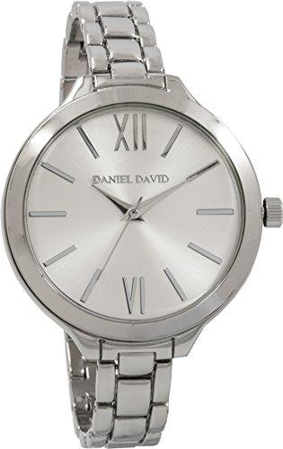 Daniel David Damen Silber Slim Link Armband Armbanduhr dd13601