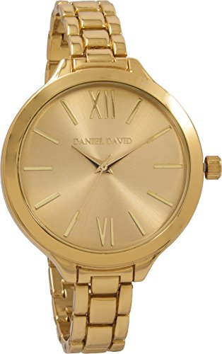 Daniel David Damen Golden Slim Link Armband Armbanduhr dd13602