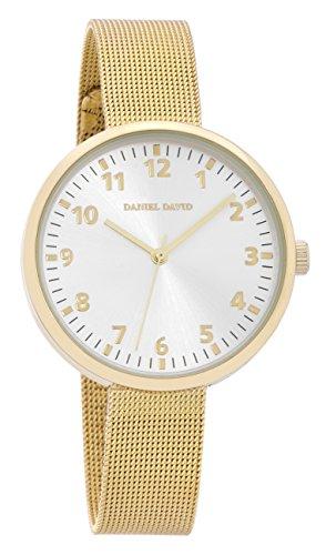 Daniel David DD15101 Armbanduhr Unisex Netz Armband Gold