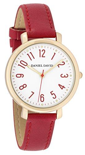 Danel David Frauen zeigt minimalistisch Gold und Rot Lesung leicht dd16101