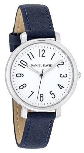 Danel David Frauen zeigt minimalistisch Silber und Blau Marineblau Lesung leicht dd16102
