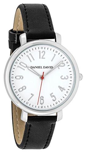 Danel David Frauen zeigt minimalistisch Silber und Schwarz Lesung leicht dd16103