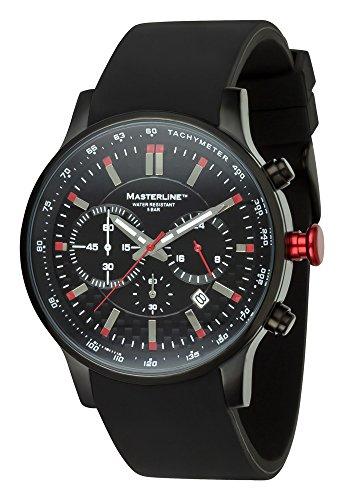 Masterline1966 Chronograph PU Schwarz mit Rot ML06137002