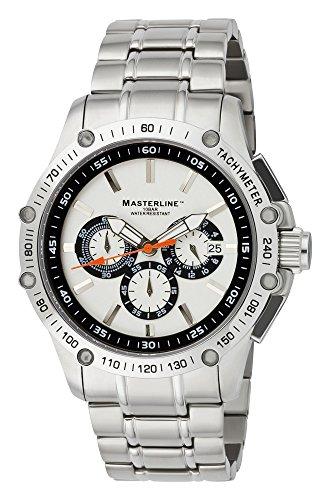 MASTERLINE1966 Fliegeruhr Chronograph Saphirglas 100m Silber ML06183001